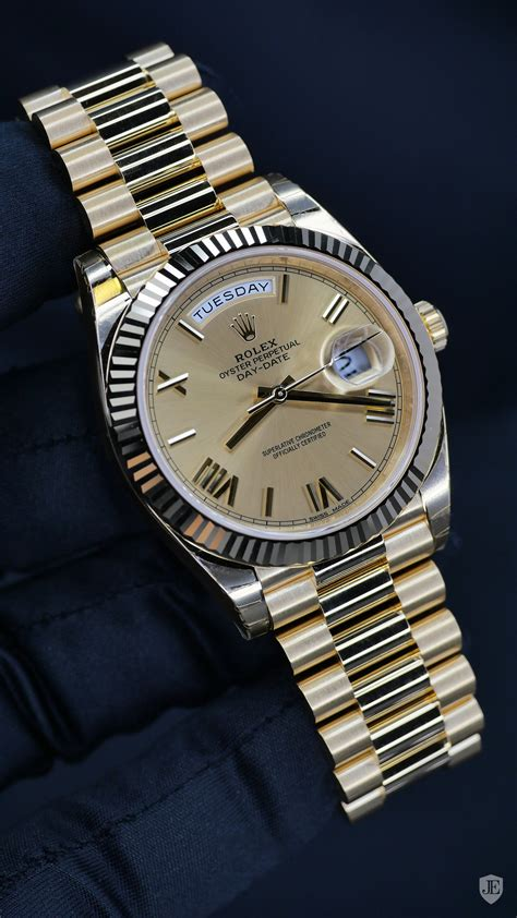 Rolex Day-Date 40 Champagne Dial 18K Yellow Gold President