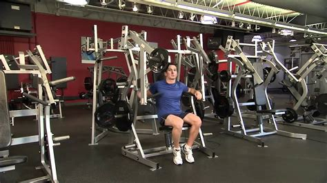 Hammer Strength Plate-Loaded Bench Press Instructions