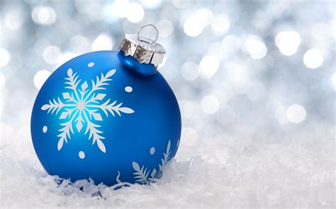 New Year, Snow, Christmas ornaments, Bokeh HD Wallpapers