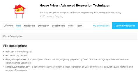 Advanced House Price Prediction Kaggle Competition
