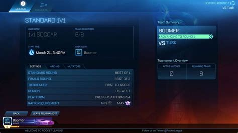 Rocket League Tournament Mode Coming in April in Update
