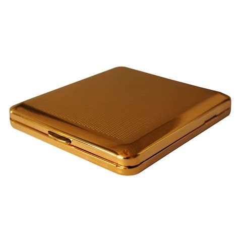 GERMANUS Cigarette Case with Genuine Gold plated - Made in
