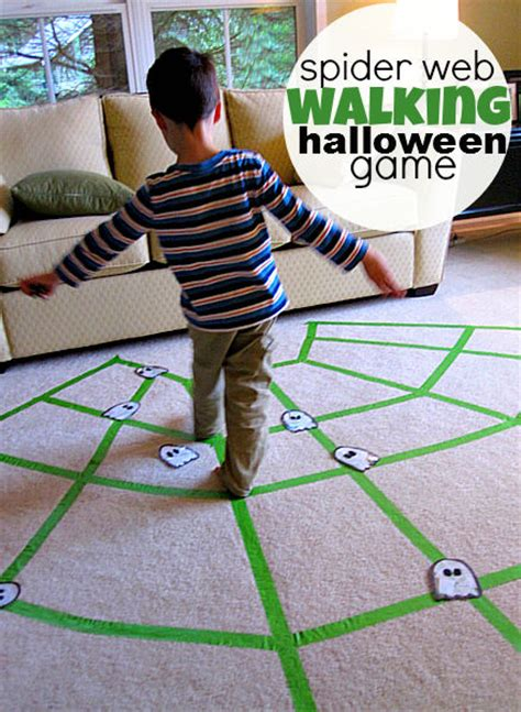 Spider Web Walking Halloween Game Pictures, Photos, and