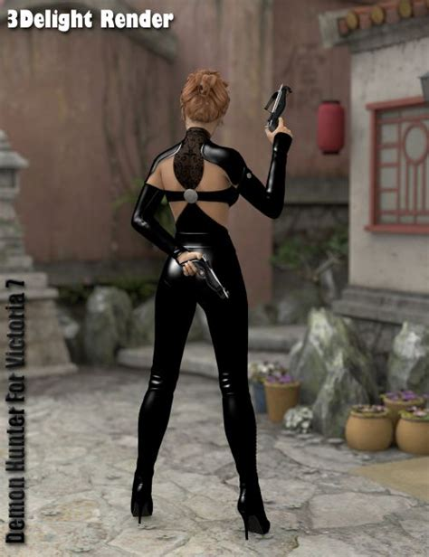 Demon Hunter For Victoria 7 | Clothing for Poser and Daz