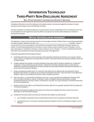 25+ Basic Non-Disclosure Agreement Examples - PDF, Word