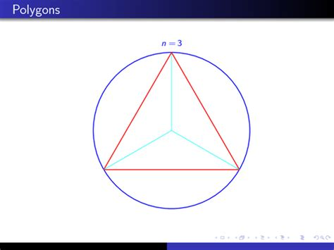 Archimedes's approximation of pi | TikZ example