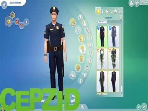 Mod The Sims: The Sims Freeplay Police Uniform by