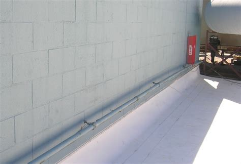 Term Bar and Counter-Flashing at wall   DCI Commercial and