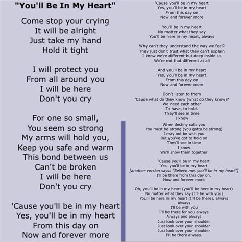 you'll be in my heart -phil collins, Tarzan | Quote