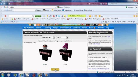 How to get past account creation disabled on Roblox