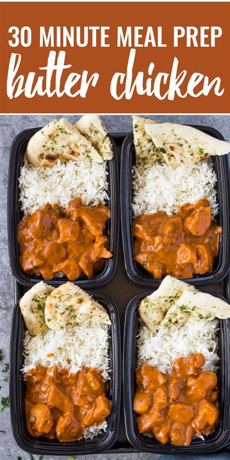 Meal-Prep Butter Chicken with Rice and Garlic Naan | Gimme