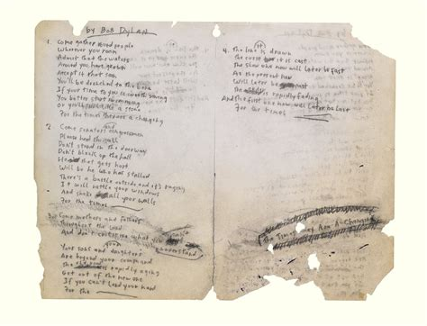 """No More Auction Block: Bob Dylan's """"Times They Are A"""